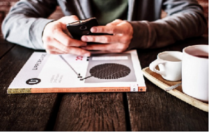 social media op smartphone